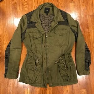 Forever 21 Womens L Military Green Jacket GS637